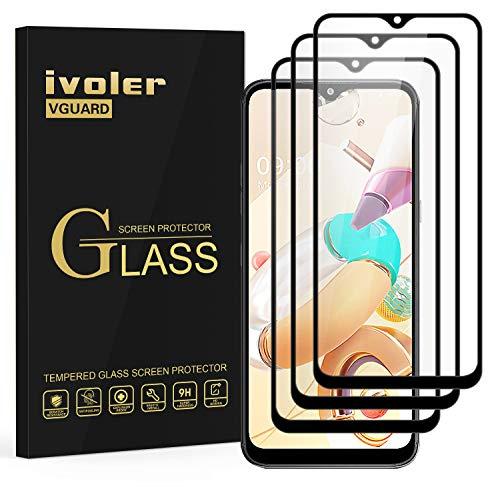 ivoler 3 Stücke Panzerglas Schutzfolie für LG K41S, [Volle Bedeckung] Panzerglasfolie Folie Hartglas Gehärtetem Glas BildschirmPanzerglas für LG K41S