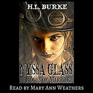 Nyssa Glass and the House of Mirrors audiobook cover art