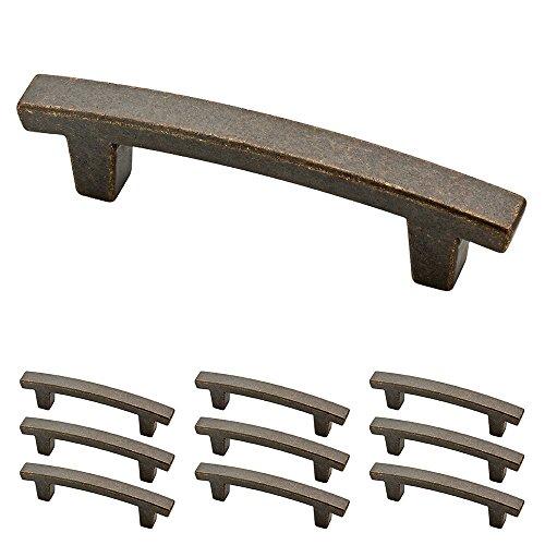 Franklin Brass P29519K-WCN-B Pierce Kitchen or Furniture Cabinet Hardware Drawer Handle Pull, 3 inch, Warm Chestnut, 10 Count