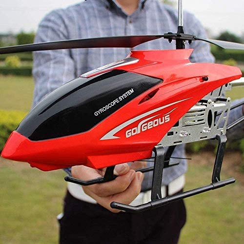 Lotees Teledirigido de Radio de 3.5 Canales helicóptero Gigante Grande helicóptero al Aire Libre los 85CM RC con giroscopio LED Boy Light avión del Juguete de los Drone Principiante fáciles de operar