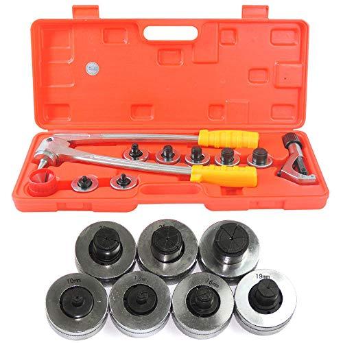 Rohrexpander Aufweitzange Rohraufweiter Set mit Rohrabschneider inkl. 7 Aufweitköpfe Rohraufweiter Aufweitzange Rohrexpander Rohrausweiter Sanitär