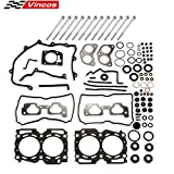 Vincos Head Gasket Bolts Set HS26170PT-1 Compatible with Forester Impreza 1999-2003 2.5L Compatible with Legacy Baja Outback 2000-2003 2.5L