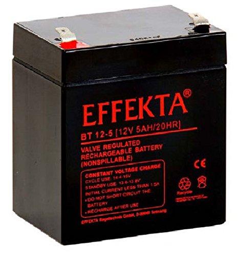 Effekta AGM Akku Batterie Typ BT 12-5  12V 5Ah  Anschluß  6,3mm