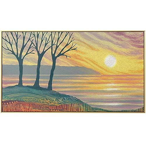 N / A Kunst Sonnenuntergang Landschaft Leinwand Malerei Poster Druck Wohnzimmer Schlafzimmer Dekoration Wandbild Rahmenlos 50x90cm