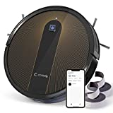 Coredy R750 Robot Vacuum Cleaner, Wi-Fi, App Controls, Mopping Function, Virtual Boundary Supported, 1600Pa Max Suction, Slim, Quiet, Self-Charging Robotic Cleaners, Cleans Hard Floor to Carpet
