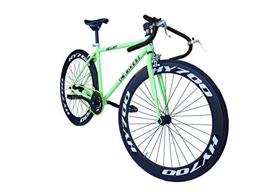 Helliot Bikes Fixie Brooklyn H36 - Bicicleta Urbana, color verde, talla única