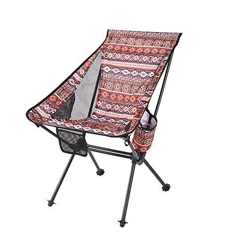 Chair Fancy Folding Portable Leisure Outdoor Camping Beach Balcony Deck (Color : A)