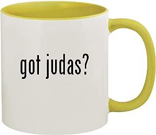 got judas? - 11oz Ceramic Colored Inside & Handle Coffee Mug, Yellow