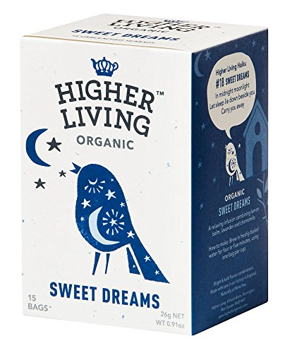 Higher Living Sweet Dreams Bio Kräuterteemischung, 15 Teebeutel, 4er Pack (4 x 26 g)