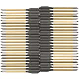 KingsArchery Crossbow Arrows Aluminum (48 Pack) 6 inch Bolts in Black and Gold