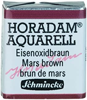 Schmincke Horadam Artists Branded goods 2021 autumn and winter new Watercolours - Brown Half Pan Mars