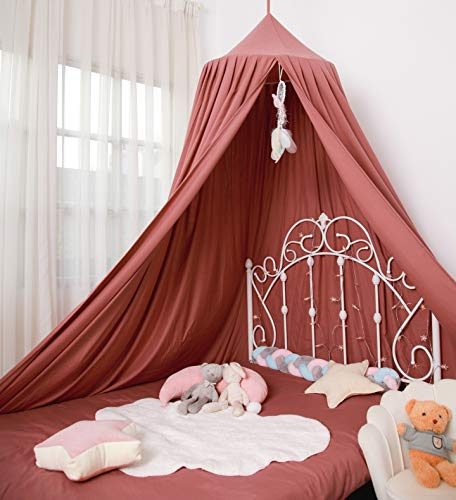 Extra Large Kids Bed Canopy Girls Canopy for Crib Canopy Nursery Canopy Hanging Canopy Blocking Light Canopy Reading Nook Canopy (Rose Red)