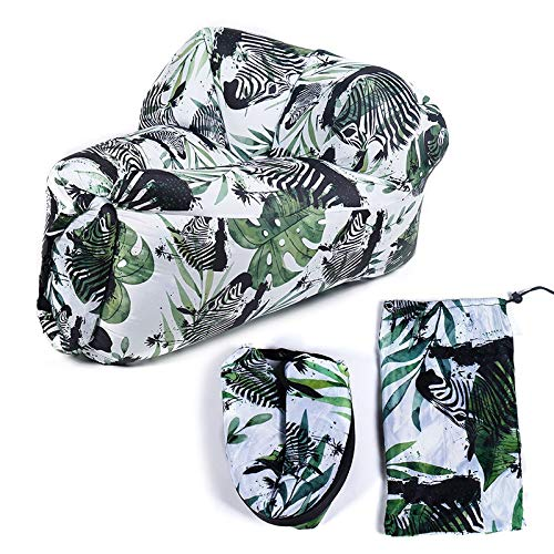 ZYSTMCQZ Sofá inflable portátil sofá de ocio al aire libre cómodo sofá cama inflable silla jardín camping playa (color : B)