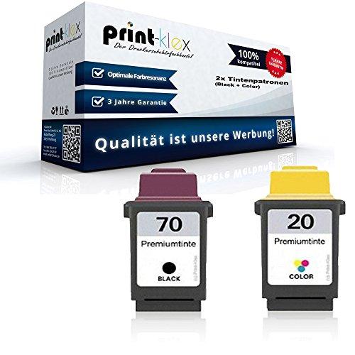 Kompatible Tintenpatronen Sparset 12AX970E 15MX120E NO 70 + 20 für Lexmark X80 X82 X83 X83M X84 X85 X85 PRO Z11 Z31 Z41 Z42 Z43
