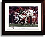 Framed Alabama Crimson Tide Football George Teague The Play Autograph Photo Print