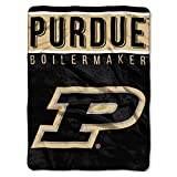 The Northwest Company Purdue Boilermakers 'Basic' Raschel Throw Blanket, 60' x 80' , Black