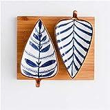 Mini Bowl Ceramic Snack Plate Sharse Plate a forma di immergenza Impostare Piccolo Snack Snack Piastra di Biscotti Secchi Piastra di Biscotto con vassoio Pattern Pattern Pattern Plates ( Color : A )