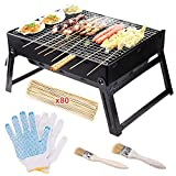 Minterest Barbecue Carbone, Barbecue Portatile a Carbonella Mini Barbecue Piccolo Pieghevole per BBQ...