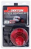 Dekton DT45808 - Juego de brocas de corona (8 unidades)