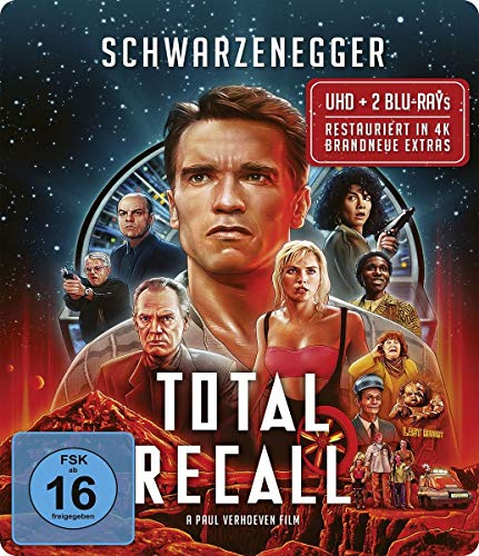 Total Recall / Uncut / Limited Steelbook Edition (4K Ultra HD + Blu-ray 2D + Bonus-Blu-ray)