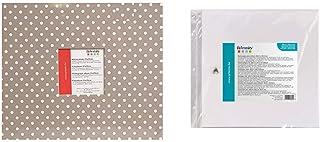 Artemio Album photo 30 x 30 cm Beige à pois blancs & VIAP01 10 Pochettes en Plastique vides pour abum Photo pour Scrapbook...