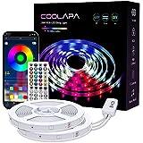 20M LED Strip, COOLAPA LED Streifen RGB 5050, LED Stripes mit 40 Tasten IR-Fernbedienung APP Steuerbar Musikmodus, 12V 360 LEDs, Sync mit Musik, Beleuchtung von Haus, Party, Küche, 2 Rollen von 10m