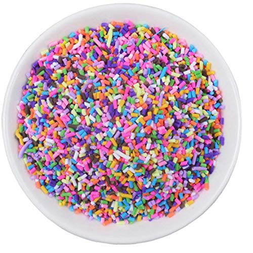 Lankater 20g Slime Clay Sprinkles Filler, Slime Beads Diy Supplies Candy Fake Cake Dessert Mud Decoration Toys Accessories