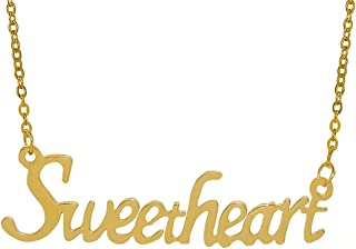 Utkarsh Golden Color Fancy & Stylish Trending Valentine's Day Special Metal Stainless Steel Sweetheart Name Letter Locket ...