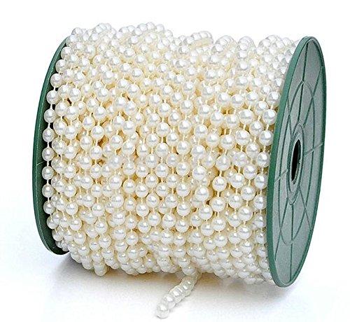 saitec 6mm 82ft grande perlas faux Crystal cuentas por el rollo de flores decoración de la boda