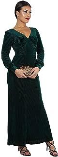 Voodoo Vixen Edith Velvet Jewel Dress (Green)