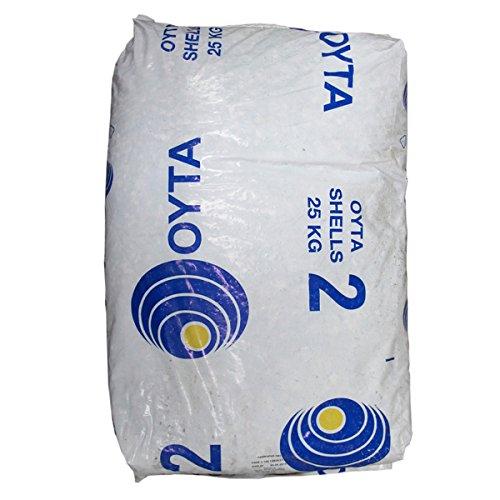 Oyster Shell Grit 25 kg – Aditivo para alimentación de aves de corral – Jardinería ecológica – Producción de Wormery – Suplemento de comida de aves silvestres – Barrera de caracol y babero natural – cubierta de plantas – Bonsai jardín – aplicaciones decorativas