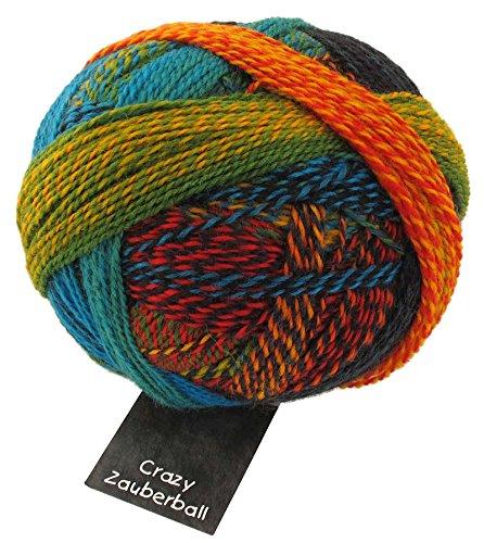 Schoppel Wolle Zauberball Crazy Fb. 1564 Frische Fische, Bunte Sockenwolle mit Farbverlauf zum Stricken oder Häkeln