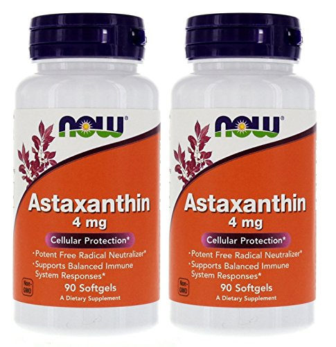 Astaxanthin 4 mg 90 cápsulas (proteção celular) (pacote com 2)