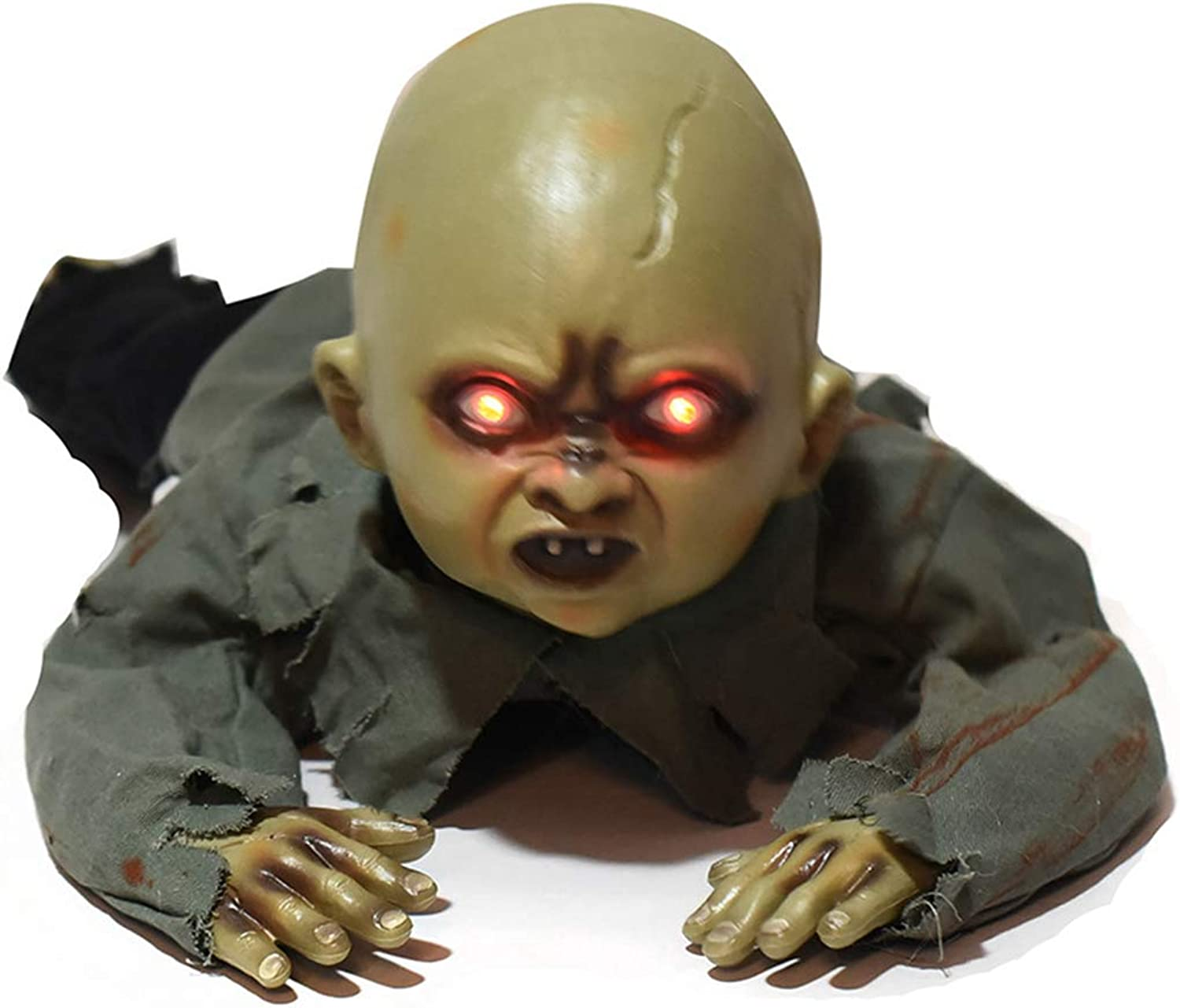 Funpa Halloween Ornament Creepy Baby Ghost Decor Haunted House Prop with Light and Sound