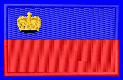 Flagge Lichtenstein Aufnäher Parche Bordado brodé Patch écusson Toppa ricamata