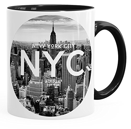 Autiga Tasse mit New York City Fotoprint Manhattan Rockefeller Center NYC schwarz Unisize
