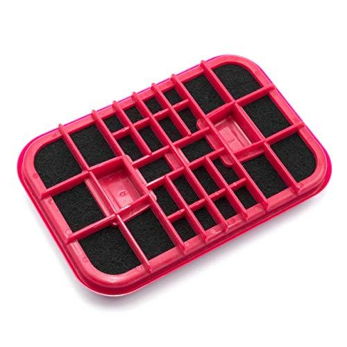 vhbw Filtro de carbón activado compatible con Electrolux 1 Classic, 1 Royal, D 820 aspiradora - repuesto, rojo