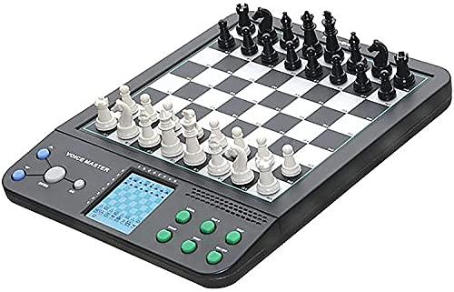Linjolly Conjunto de ajedrez para Adultos Conjunto de ajedrez de Lujo Inteligente Interacción Humana-Máquina Interacción Ajedrez Electrónica Ajedrez de ajedrez de ajedrez de ajedrez para la Familia