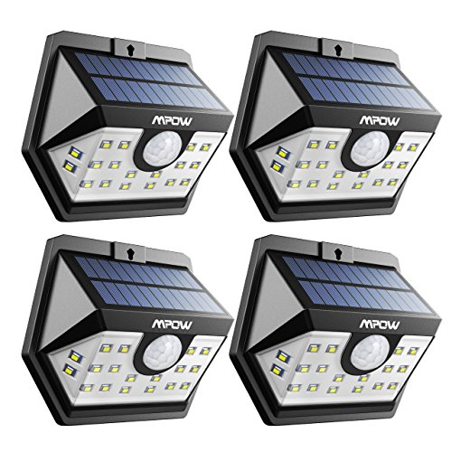 Mpow Solar Lights Outdoor Motion Activated Lights