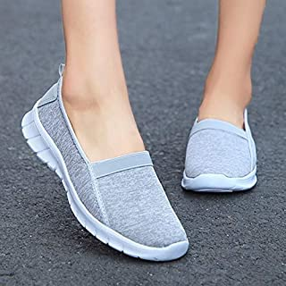 Women's Casual Shoes Summer Breathable Ultra Light Comfortable Non-Slip Sneakers(Light Blue,41)