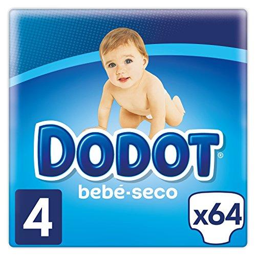 Dodot Bebé-Seco Pañales Talla 4, 64 Pañales, el unico Pañal con canales de Aire, 9 a 14 kg