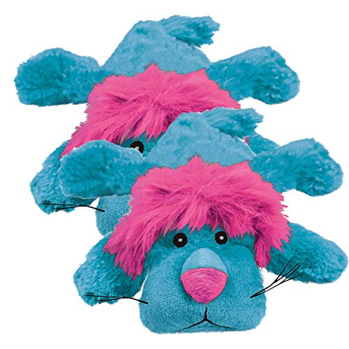 KONG Cozies Dog Squeaky Toy, King The Lion, Medium (2 Pack)