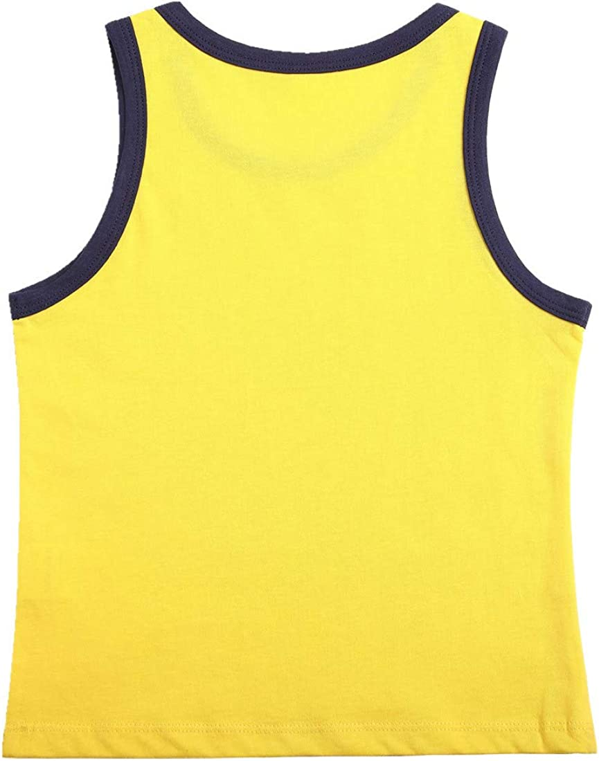 Sooxiwood Little Boys Vest 100% Cotton Solid Color Navy Collar Summer Tank Top