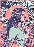 YASMINE HANCOCK Lana del rey Blechschild aus Metall, für