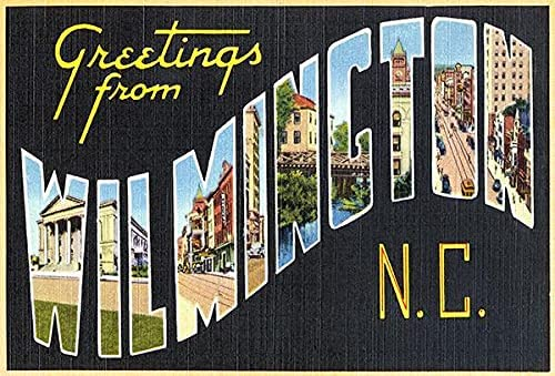Our shop OFFers the best service Greetings from Wilmington North Carolina #2-1930's Po New sales - Vintage