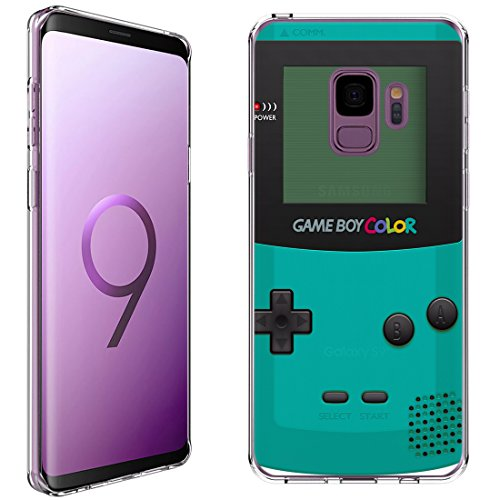 Samsung Galaxy S9 Case [Gameboy Mint](Clear) PaletteShield Flexible Slim TPU Skin Phone Cover (Does NOT fit S9 Plus)