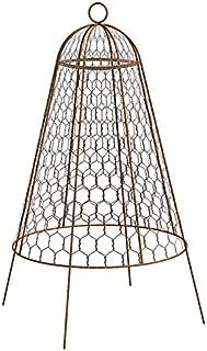 BestNest Set of Six Panacea 83280 Rustic Wire Garden Cloches, 20
