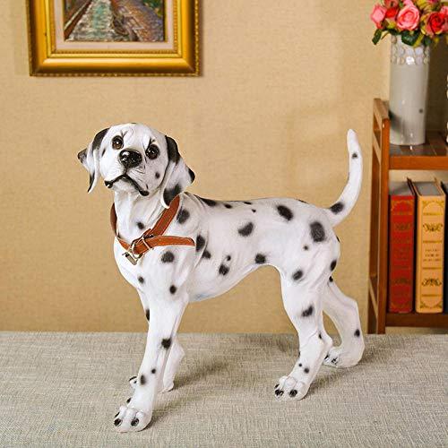 WMHF Estatua Resina Adornos Simulación Decoración para Perros Sala De Estar Decoración para El Hogar Dálmata Decoración para Perros Gabinete De Vino Lucky Dalmatian Dog Model Crafts