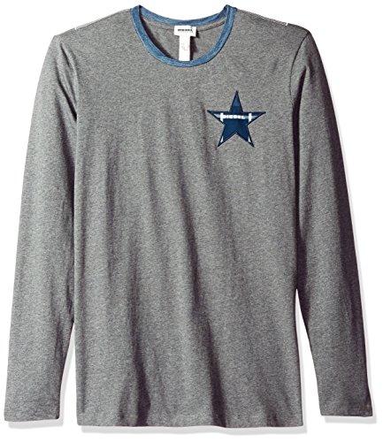Diesel Herren T-Shirt Justin Long Sleeve Pyjama Top - grau - Medium