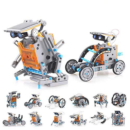 EJOYFL Solar Robot Kit 12-in-1 Science STEM Robot Kit Toys for Kids...